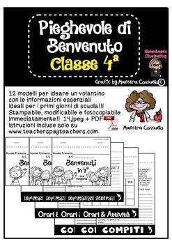 Pieghevole informativo classe 4