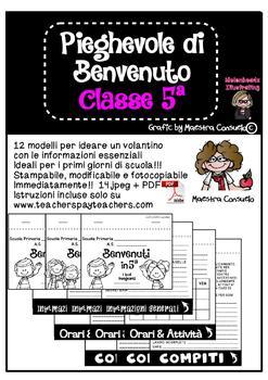 Pieghevole informativo classe 5