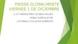 Piensa globalmente Year 11 (GCSE revision lesson) Spanish