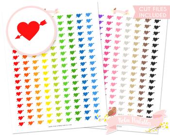 Pierced Heart Printable Planner Stickers
