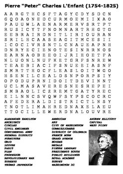 Pierre Charles L'Enfant Word Search