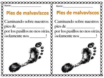 Pies de Malvaviscos/Marshmallow feet Spanish