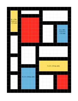 Piet Mondrian Area and Peri... by The Buzzy Teacher | Teachers Pay ...