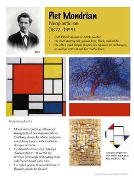 Piet Mondrian Artist Poster