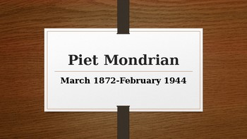 Piet Mondrian Biography Slide Show