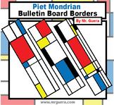 Piet Mondrian Bulletin Board Borders