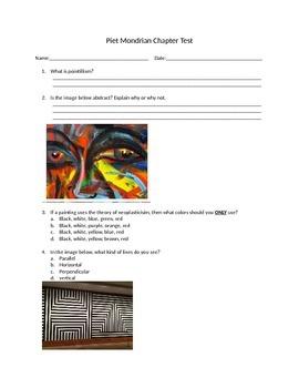 Piet Mondrian Chapter Test