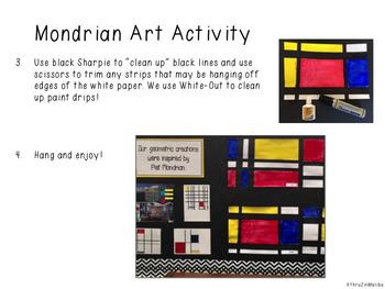 Piet Mondrian Famous Artist Unit-Art Project and More