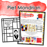 Piet Mondrian Inspired Art Lesson/Distance Learning or Sub