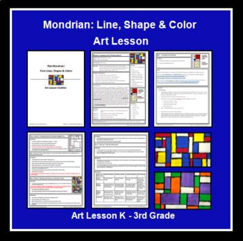 Piet Mondrian - K-3rd Grade Art Lesson
