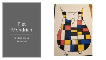 Piet Mondrian Kids Art Owl Project Lesson Artist Biography Step By Plan
