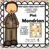 Piet Mondrian - Meet the Artist - Artist of the Month - Lit Mini Unit Printables