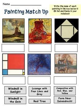 Piet Mondrian - Meet the Artist - Famous Artist Art Unit - Art Biography Unit