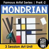 Piet Mondrian Project-Based Art Unit for Famous Artist Ser