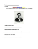 Piet Mondrian Worksheet