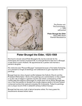 Pieter Bruegel: A Study of 14 Works of Art with Other Activities