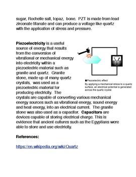Piezoelectricity and the Quartz Crystal