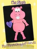 Pig Animal Fun Glyph Craftivity