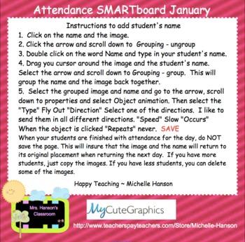 Pig Attendance Interactive Smartboard Morning