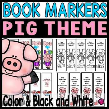 Book Marks Pig Theme for Rewards and Back to School Gifts