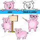 Pig Clip Art   Pig with signs