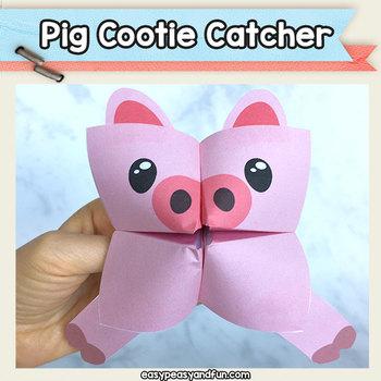 Pig Cootie Catcher - Fortune Teller Craft