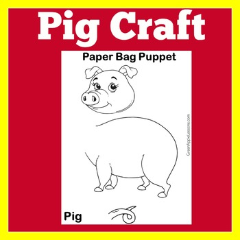 Pig Craft   Pig Activity   Pig Craftivity   Farm Animals Craft