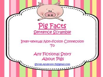 Pig Facts- Sentence Scramble