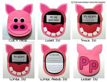 Pig Flip Book Cut and Paste