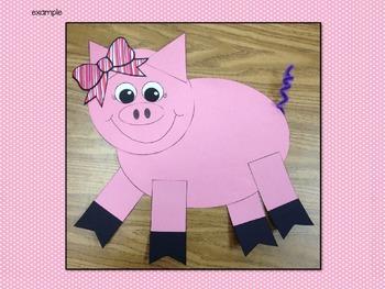 Pig Glyph Craftivity