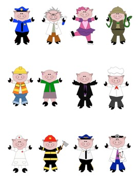 Pig Clip Art: Occupations/Career