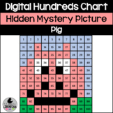 Pig Hundreds Chart Hidden Picture Activity for Math