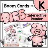 Pig Interactive Reader - Boom Cards Resource