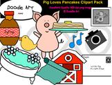 Pig Loves Pancakes Clipart Pack