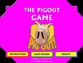 Pig Out Interactive Game aka Skunk, Pig, Pass the Pigs, Co