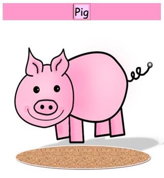 Pig - Pie game - long and short /i/ vowel discrimination word sort