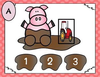Pig Puddles (Syllables)-A Digital Literacy Center (Compatible with Google Apps)