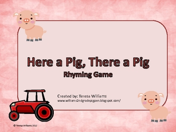 Pig Rhyming