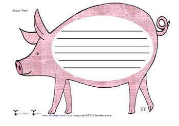 Pig Shaped Poem