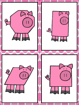 Pig Shapes -A Predictable Reader and Memory Cards