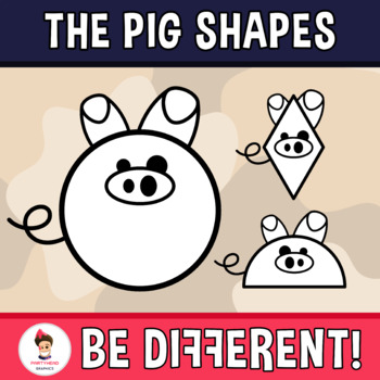 Pig Shapes Clipart