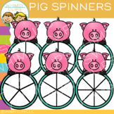 Pig Spinners Clip Art