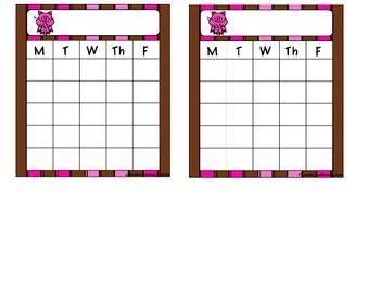 Pig Theme Sticker Charts -Freebie