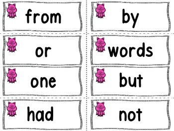 """Pig Theme Word Wall Letters and """"200"""" Fry Words"""
