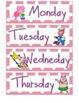 Pig Themed Calendar Set