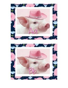Pig Themed Editable Word Wall