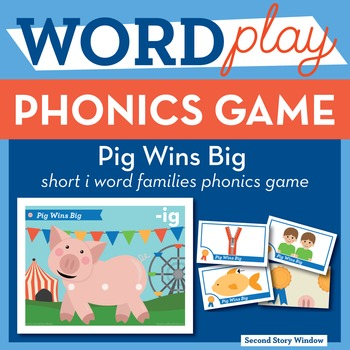 Pig Wins Big Short I Word Families Phonics Game - Words Their Way Game