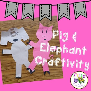 Pig and Elephant Craft and Speech Bubbles