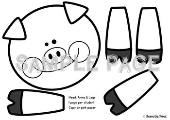Pig in a Tub {Print Cut and Paste Paper Craft}