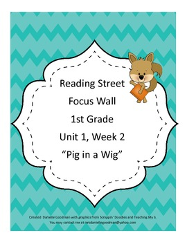 Pig in a Wig Focus Wall Grade 1 Reading Street Common Core 2013